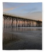 Sunset Pier  California 5 Fleece Blanket