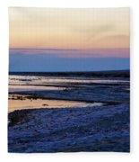 Sunset Salton Sea North Fleece Blanket