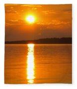 sunset Samsoe island Denmark Fleece Blanket