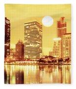 Sunset Scenes Of City Fleece Blanket