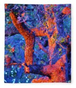 Sunset Tree Fleece Blanket
