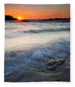 Sunset Uncovered Fleece Blanket