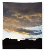 Sunset Valley Of Fire Fleece Blanket
