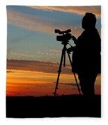 Sunset Videographer Fleece Blanket
