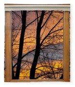 Sunset Window View Fleece Blanket