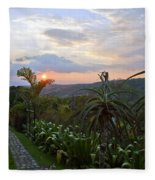 Sunsetting Over Costa Rica Fleece Blanket