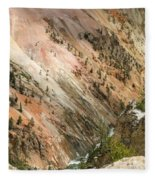 Sunshine On Grand Canyon In Yellowstone Fleece Blanket