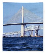 Sunshine Skyway Bridge II Fleece Blanket