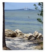 Sunshine Skyway From The Causeway Fleece Blanket