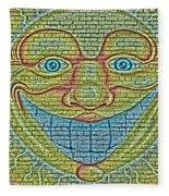Sunshine Smile Art Fleece Blanket