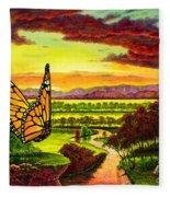 Sunshine Traveler-monarch Fleece Blanket