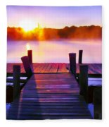 Sunup Over Rock Creek Fleece Blanket