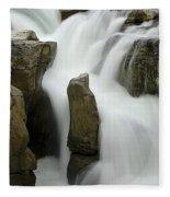 Sunwapta Falls 2 Fleece Blanket