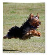 Super Yorkie Fleece Blanket