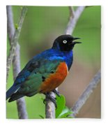 Superb Starling Fleece Blanket