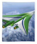 Supersonic Aircraft Design Fleece Blanket