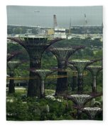 Supertrees At The Gardens By The Bay In Singapore Fleece Blanket