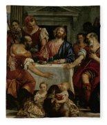 Supper At Emmaus Fleece Blanket