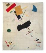 Suprematist Composition No 56 Fleece Blanket