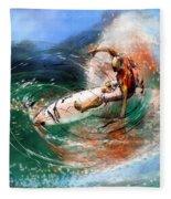 Surfscape 03 Fleece Blanket