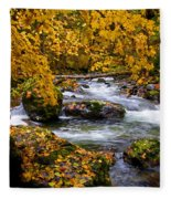 Surrounded By Autumn Fleece Blanket