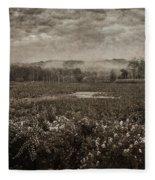 Suspended Over The Wetlands Fleece Blanket