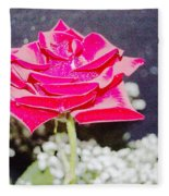 Suzannes Fantasy Rose Fleece Blanket