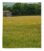 Swaledale Buttercup Meadow Fleece Blanket
