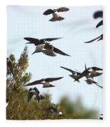 Swallows - All In The Family Fleece Blanket