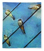 Swallows Goes To South Fleece Blanket