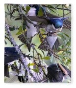 Swallows In Pooler Fleece Blanket