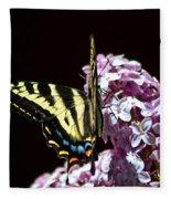 Swallowtail On Lilac 3 Fleece Blanket