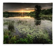 Swamp Sunrise Fleece Blanket