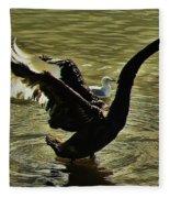 Swan Dance 2 Fleece Blanket