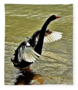 Swan Dance Fleece Blanket