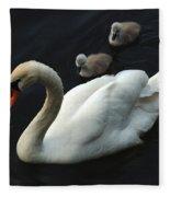 Swan Family 1 Fleece Blanket