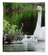 Swan Family Late Summer Fleece Blanket