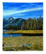 Swan Lake II Fleece Blanket
