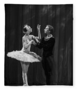 Swan Lake  White Adagio  Russia Fleece Blanket