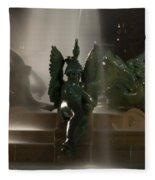 Swann Fountain At Night Fleece Blanket