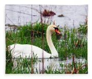 Swan's Marsh Fleece Blanket
