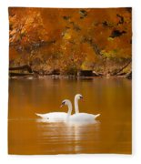 Swans Soft And Smooth Fleece Blanket