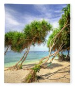 Swaying Palm Trees Fleece Blanket