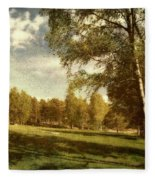 Swedish Landscape Fleece Blanket