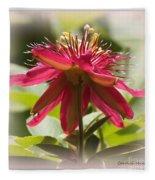 Sweet Dreams Passion Flower Fleece Blanket