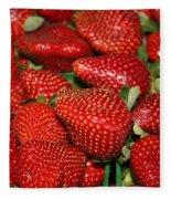Sweet Florida Strawberries Fleece Blanket