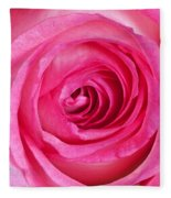 Sweet Pink Rose IIi Fleece Blanket