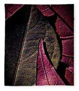Sweet Potato Foliage Fleece Blanket