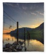 Sweet Wave Of Sunset Fleece Blanket