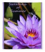 Sweetness Of Summer Fleece Blanket
